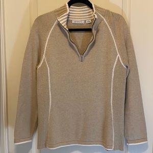 Liz Claiborne 1/4 zip 100% cotton sweater
